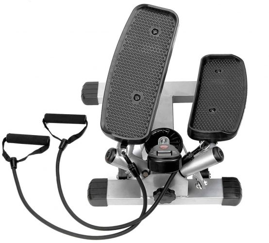 Sunny Health and Fitness Twister Stepper With Resistance Bands