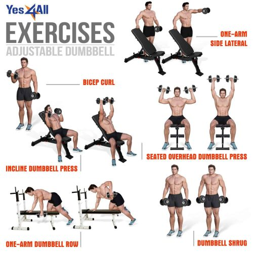 Yes4All Adjustable Dumbbells Exercises