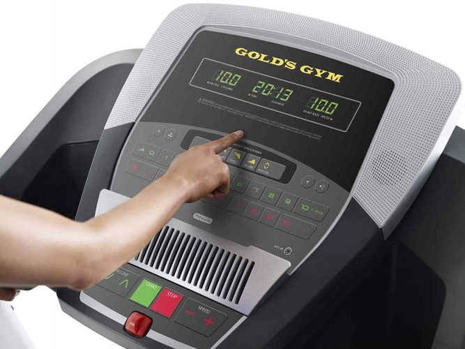 Gold's Gym Trainer 720 Treadmill Display