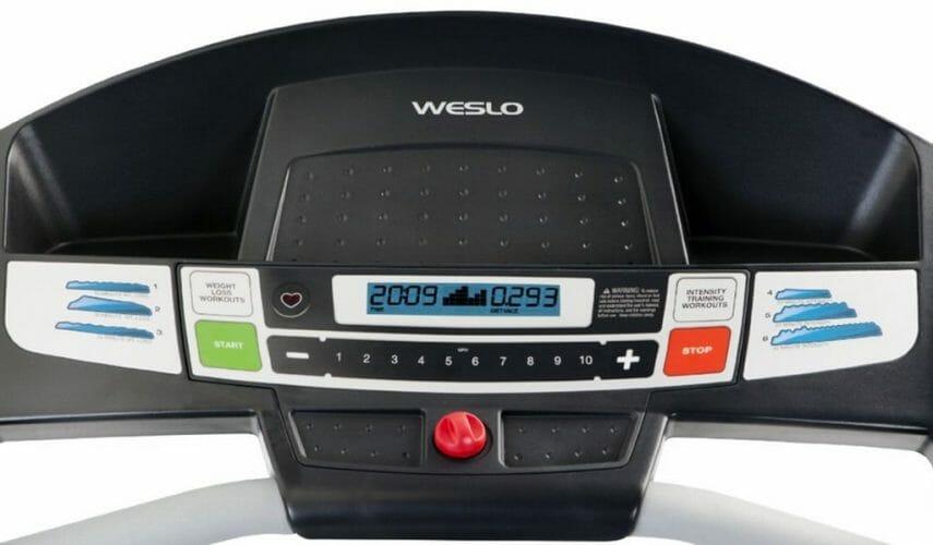 weslo cadence g 5.9 treadmill display