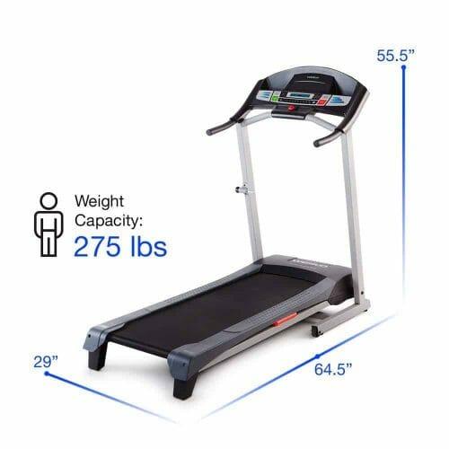 weslo cadence g 5.9 treadmill specifications