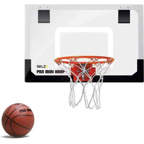 SKLZ Pro Mini Basketball Hoop With Ball and Shatter Resistant Backboard