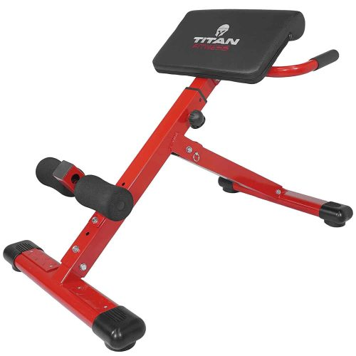 Titan Fitness Abs Back Hyperextension Bench Roman Chair