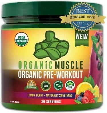 Organic Muscle Natural Vegan Pre-Workout Supplement