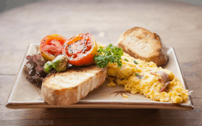 Egg Omelet With Wholemeal Toast