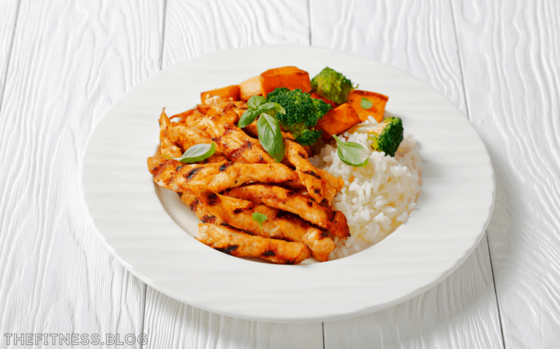 Grilled Chicken With Sweet Potato And Broccoli