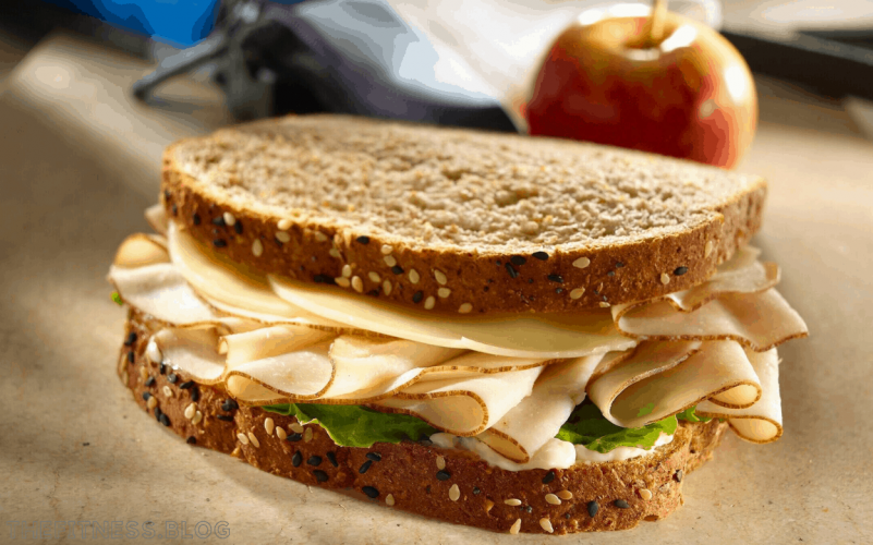 Whole Wheat Sandwich With Fruit