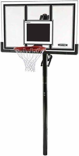 Lifetime 71525 Height Adjustable In-Ground Basketball Hoop